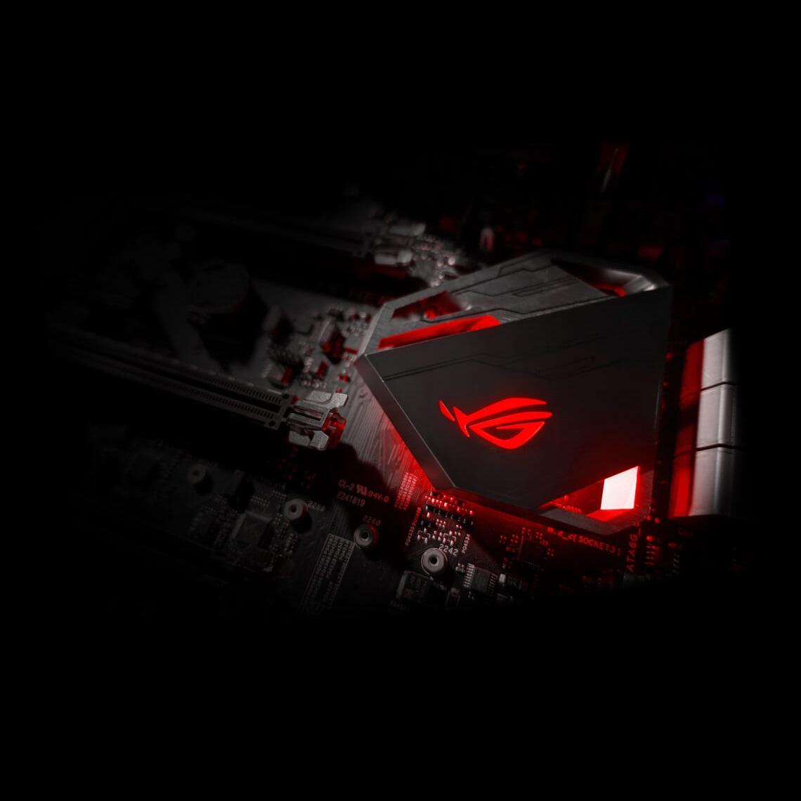 ASUS Maximus IX Hero HOLLOW HEAT-SINK WITH RED-HOT STYLE