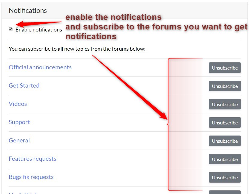 Subscribe to the forum notifications to get notified