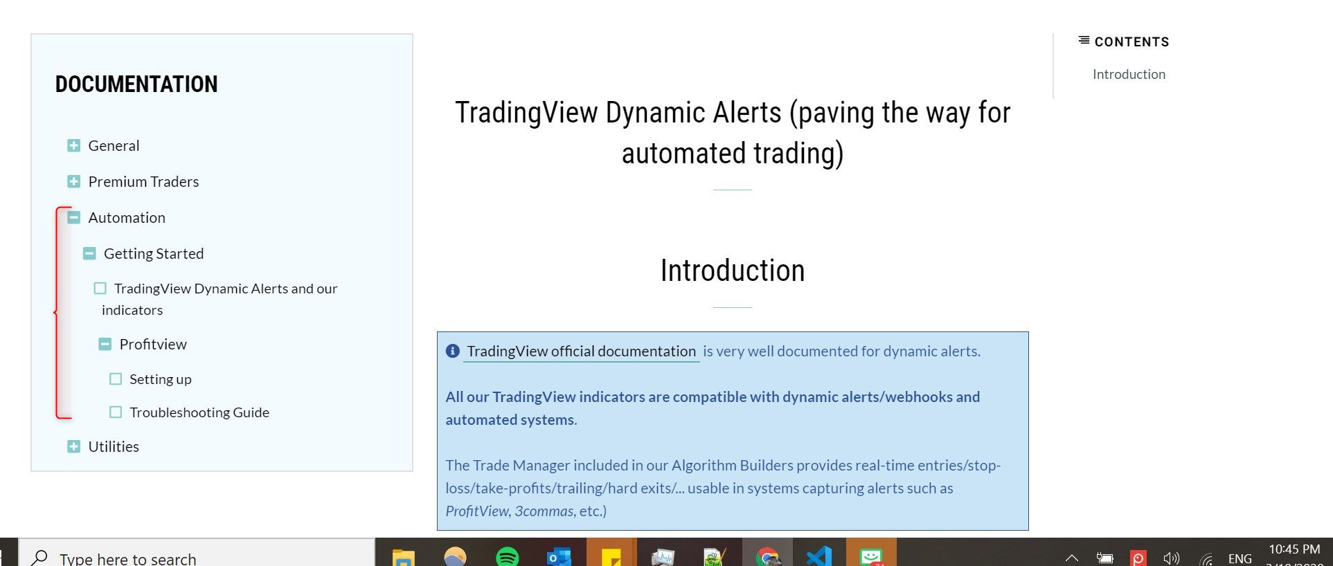 Configuring your framework alerts for automation