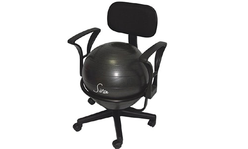 fitness arm rest balance ball for office - low fit chair - pump