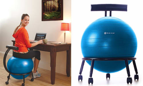 Best Exercise balance ball-Chair with girl
