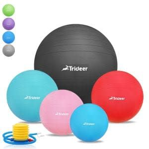 best-stability-exercise-balls-Yoga Pilate Fitness Balance Ball with Pump Plug Kit