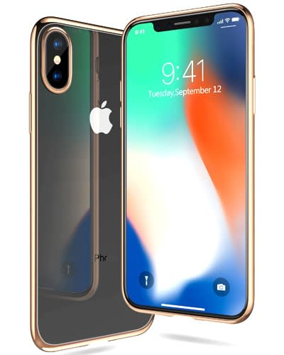 best iphone x cases TORRAS Ultra Thin Slim Fit Flexible Soft TPU Transparent Crystal Clear Cover Case for Apple iPhone X Gold & 6 More Colors Available