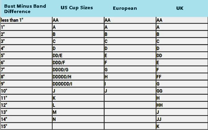 Bra Size Chart - list of bra sizes - bra size chart with pictures - bra size pictures - bra cup sizes pictures - how to measure bra size how to fit a bra - bust size chart -boob size chart - list of bra sizes - breast sizes chart - cup size chart - bra cup sizes - bra sizing chart - cup sizes - breast sizes - bra sizing chart - bra cup sizes