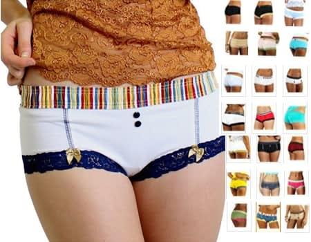 FOXERS Cute Boxer Brief Panties Cheeky Womens Cotton Boyshort Underwear swim shorts and board shorts boy shorts