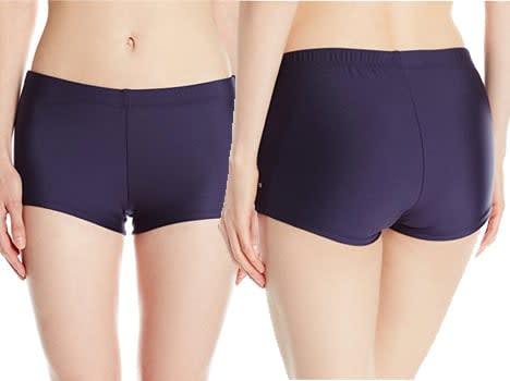 Nautica Women's Signature Boyshort Bottom boyshorts panties booty short swim shorts women board shorts for women pants