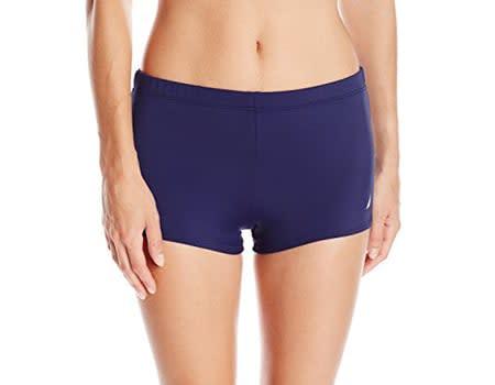 25. Nautica womens swim shorts Signature Boyshort Bottom boyshorts panties booty short swim shorts women board shorts for women pants high waisted shorts