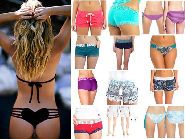 New 25 Womens Board Shorts BoyShort Bikini Bottoms, Boy Short Panties & swim shorts for women