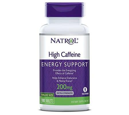 Best Caffeine Pills 2018 - Natrol High Caffeine 200mg Tablets
