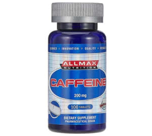Best Caffeine Pills 2018 - AllMax Nutrition Caffeine200mg Tablets Pack Of 100