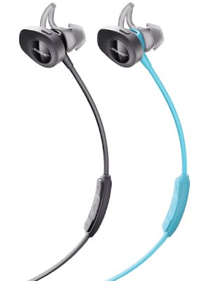 Bose SoundSport Wireless Headphones, Aqua Bluetooth Earphones