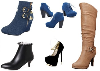 womens boots - high heel shoes