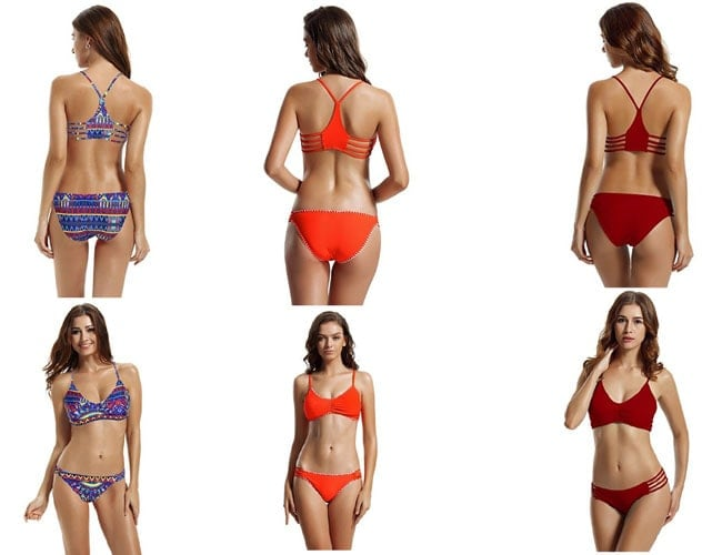 bathing suits, swimsuits for women, womens 2 two piece bikini set, women's swimwear