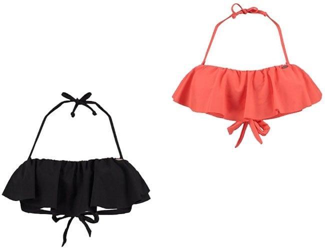 ruffle top bikini, halter top bikini, ruffled top bikini, ruffled top bikini, racerback bikini top, woman bikini top, black small bikini tops, bandeau bikini