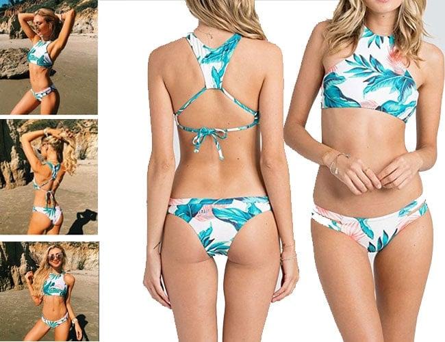 strapless bathing suits, strapless bikini, strapless bathing suit, strapless swimsuits, coconut print bikini with underwire, bandeau bathing suits, coconut bathing suit top, Vintage Coconut Print Swimsuit, bikinis for bigger girls, swimsuit tops, bathing suit tops, swim bikini, swim bra, cross bikinis, white green bikini swimsu