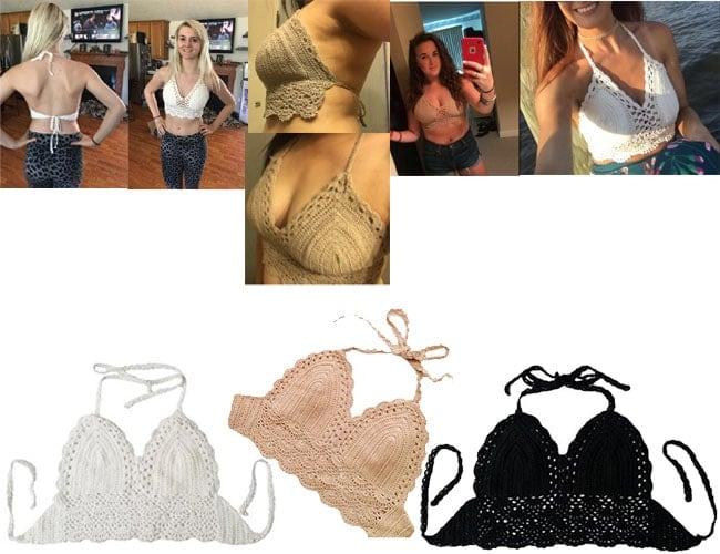 Crochet Crop Bikini Tops, black crochet crop bikini, white, crochet crop bikini, crochet bikini crop top, crochet bikini crop top pattern, crochet halter crop top, crochet crop top