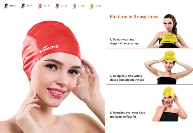 best swim cap - swimming hat - bathing caps for sale - girls swim caps - pink swim cap - swim caps big 5 - hat with short hair - swim hats