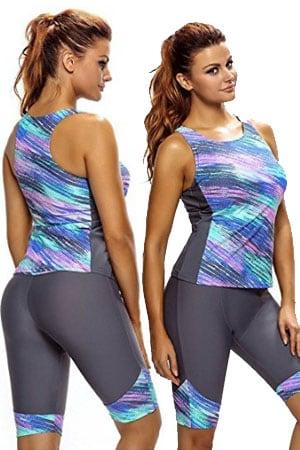 womens bra sized swimwear - Women's Two Pieces Set Tankini Plus Size Swimwear Wetsuit Sport Swimsuits - full bust swimwear - swimsuits for large bust