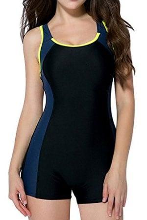 womens bra sized swimwear - one piece swimsuit Women's Sport Bathing suits - Women-s-Slimming-One-Piece-Boxer