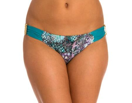 07. Aerin Rose Aerin Rose Maaji Swim Hipster Bikini Bottom Maaji Swimwear Sale Ruched Back Brazilian Bottom for Women