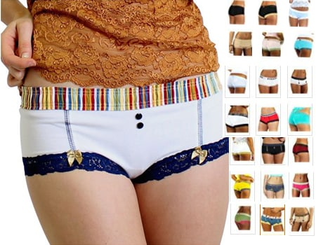 FOXERS Cute Boxer Brief Panties Cheeky Womens Cotton Boyshort Underwear swim shorts and board shorts boy shorts