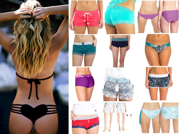New 25 Womens Board Shorts BoyShort Bikini Bottoms, Boy Short Panties & swim shorts for women