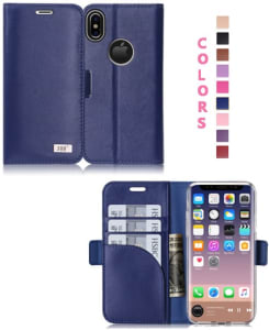 Fyy iPhone X Wallet Case iphone x leather case iphone 10 leather case apple iphone x leather cases iphone x leather folio case for your new phone - 100% genuine leather
