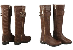 womens knee high heel boots - western boots
