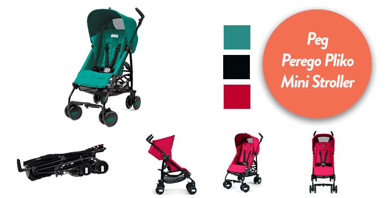 Peg Perego Pliko Mini Stroller, Aquamarine