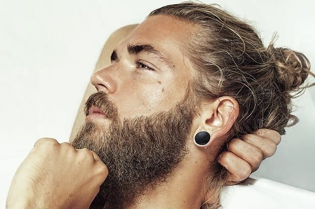 beard with long hair