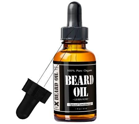 leven rose beard oil - top beard oils review good smelling - best beard oil