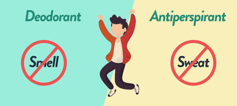 Difference Between Deodorant and Antiperspirant