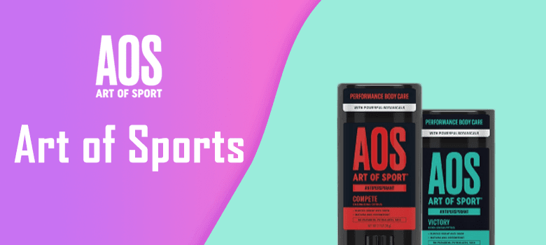 Art of Sports deodorant stick, AOS deodorant spray