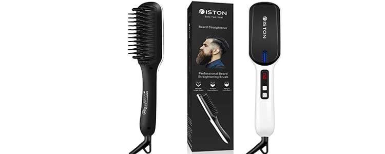Beard Straightener for Men - Beard Straightening Heat Brush Comb