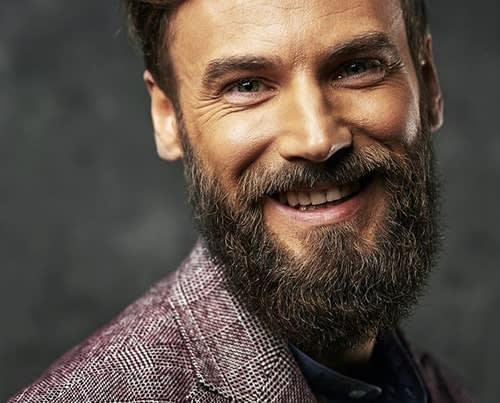 Naturally Grown Beard with Mustache