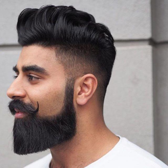 Chin Curtain with Handlebar Mustache