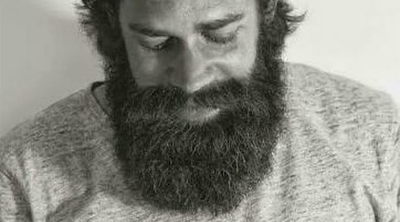 long curly beard