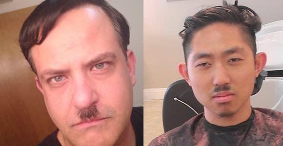 Adolph Hitler & Charlie Chaplin Mustache Styles