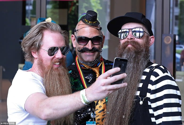 celebrity beard and mustache styles