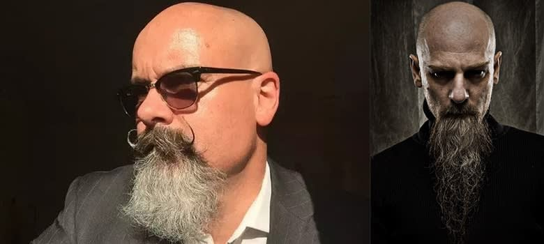 bald with beard