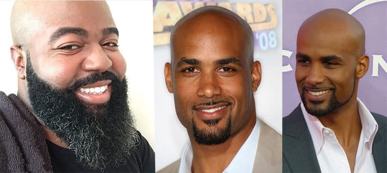 beard styles for bald black men