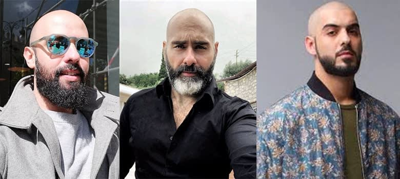 bald with beard style