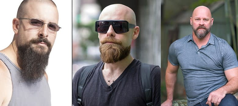 shaved head with beard styles