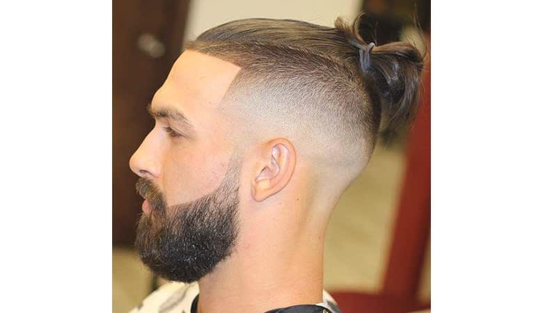 mens haircuts shaved sides long top