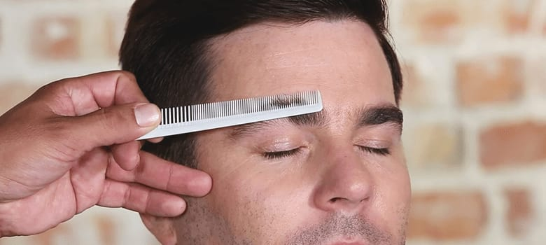 how to trim eyebrows men