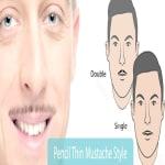 Pencil Thin Mustache Styles