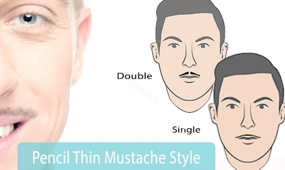 Pencil Thin Mustache Styles