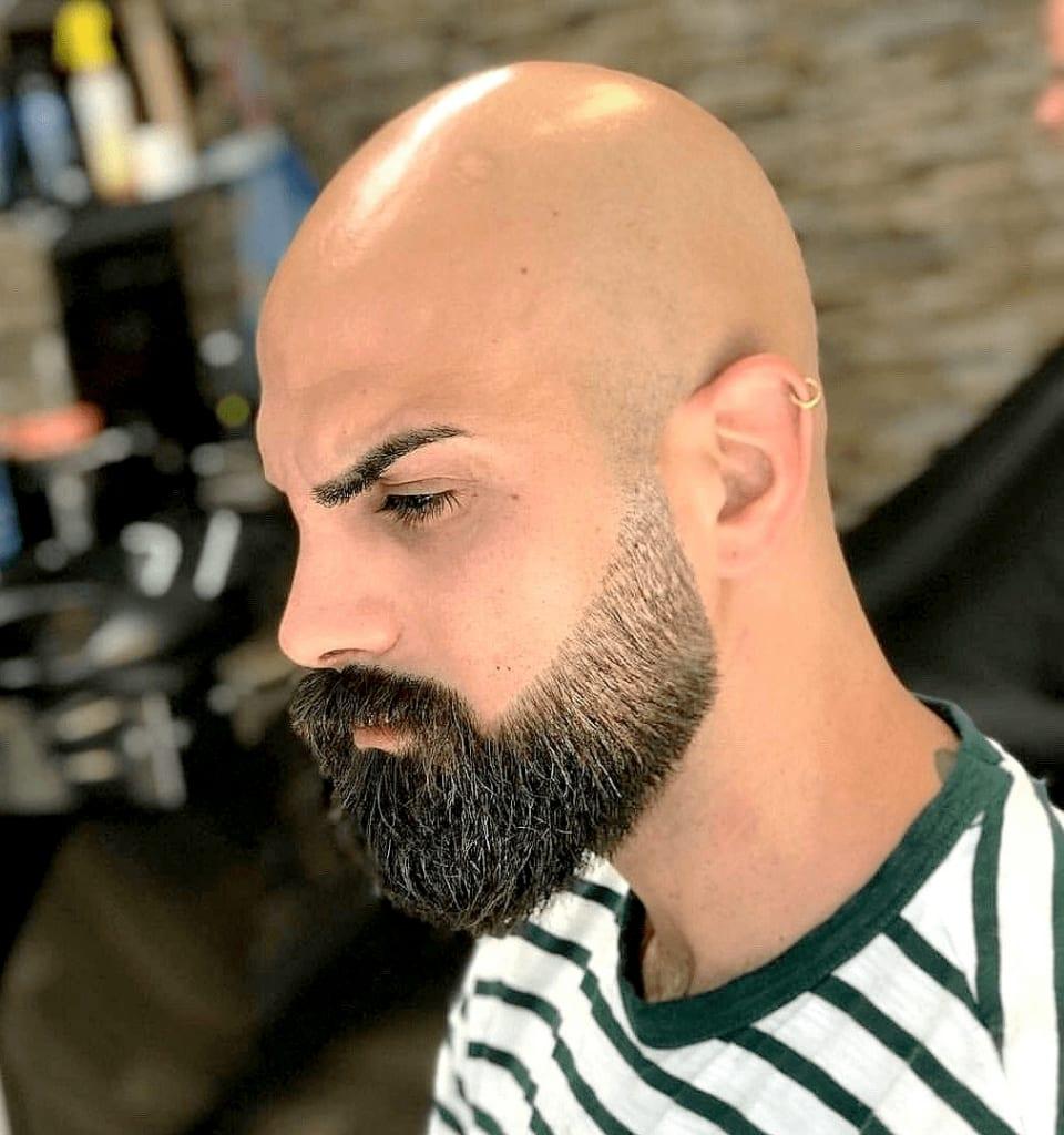 bald beard: bald head with beard