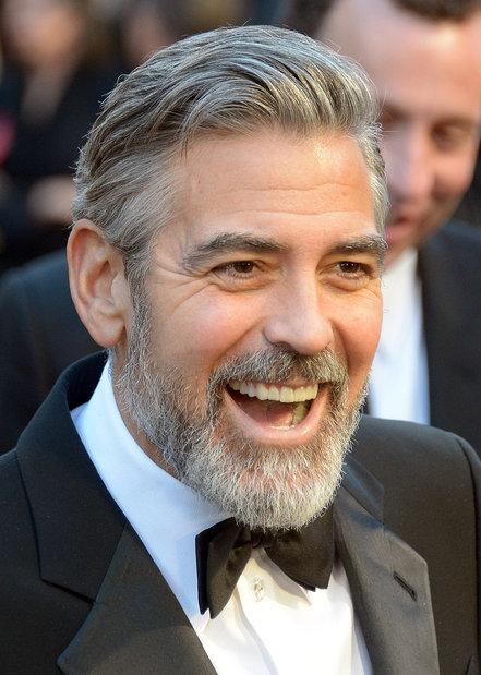 George Clooney beard style