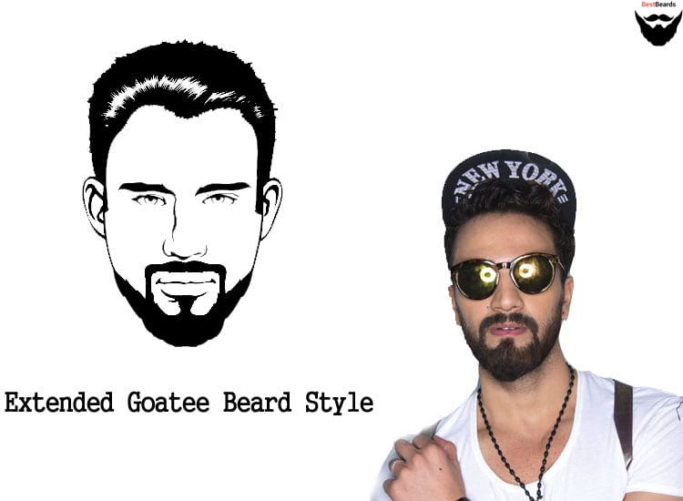 extended goatee and ducktail beard styles